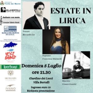 Concerto estate in lirica